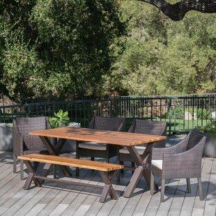 Brayden Studio Arcadia Outdoor 6 Piece Dining Set with Cushions