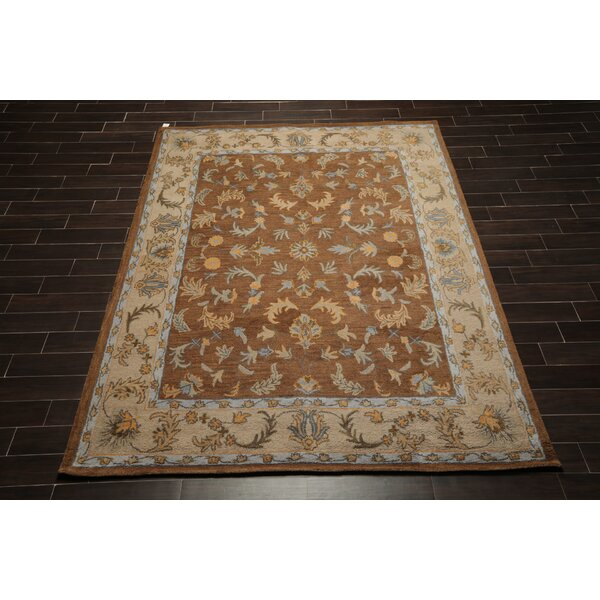 Darby Home Co Smithey Oriental Handmade Tufted Wool Brown Area Rug Wayfair