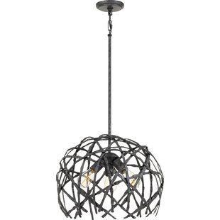 Clinard 3-Light Globe Chandelier by Williston Forge