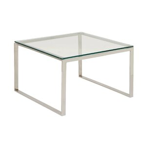 Stainless Steel and Glass Coffee Table by Cole & Grey