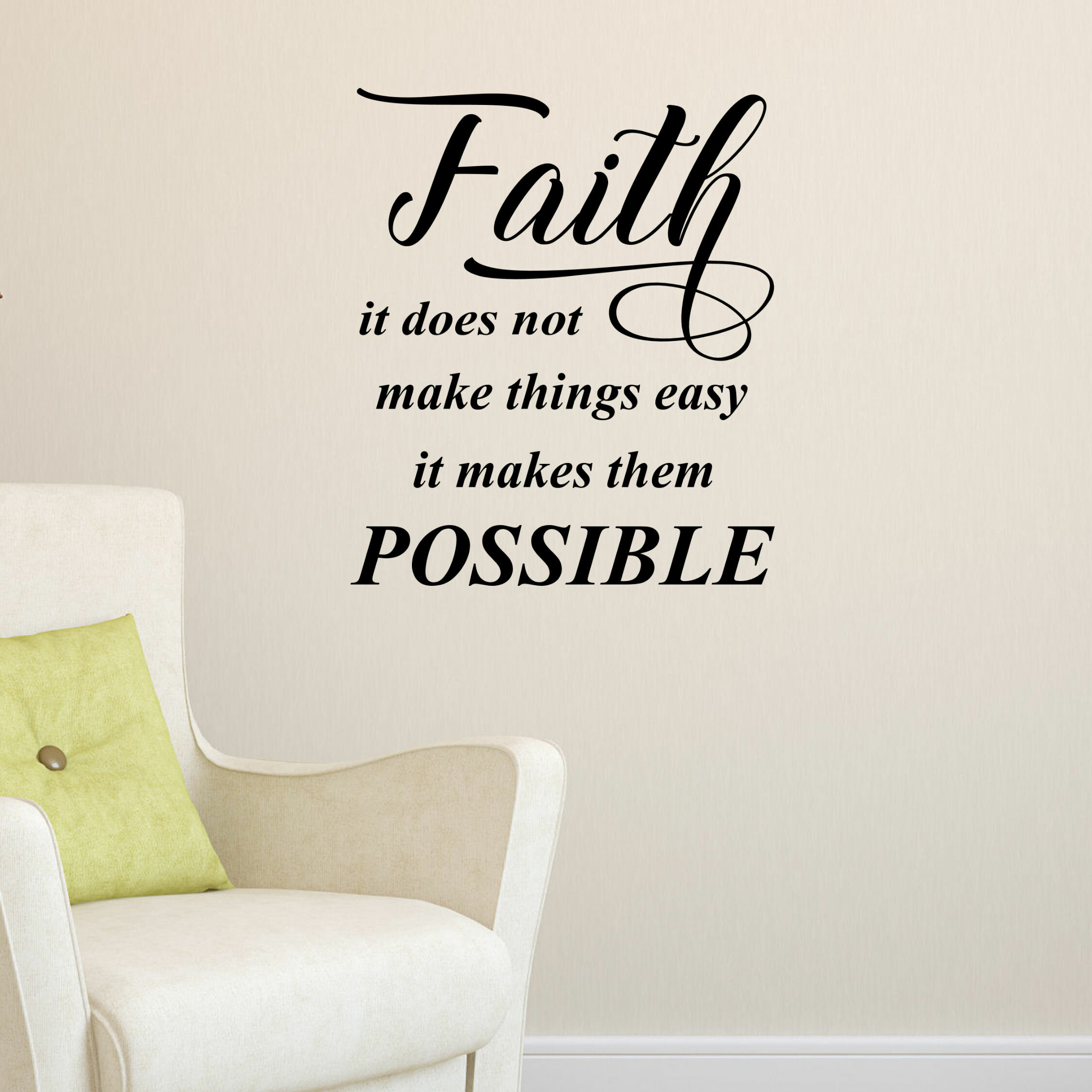 Decalthewalls Faith It Does Not Vinyl Wall Decal Wayfair