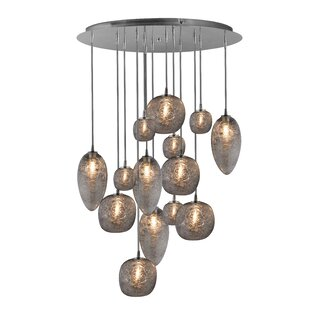 Cosmos 14-Light Cluster Pendant by Oggetti