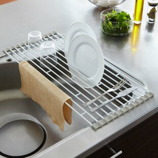 Plate Folding Sink Drainer Rack & Kitchen Cabinet Plate Rack | Wayfair