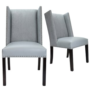 Renn Upholstered Dining Chair (Set of 2) Loon Peak