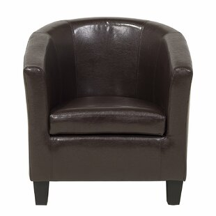 Gully Faux Leather Barrel Chair by Winston Porter