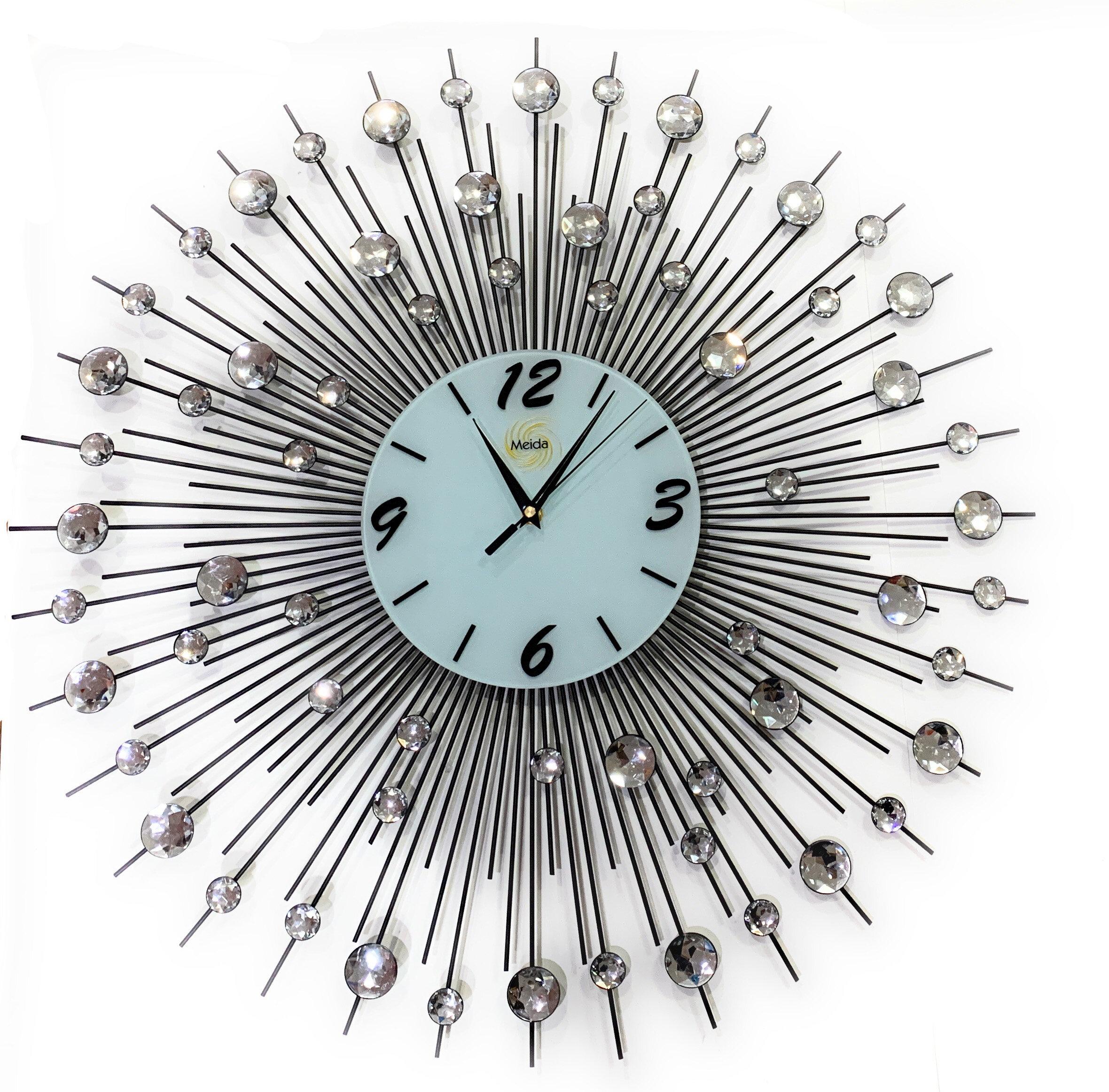 Meida Oversized 9 Wall Clock Reviews Wayfair
