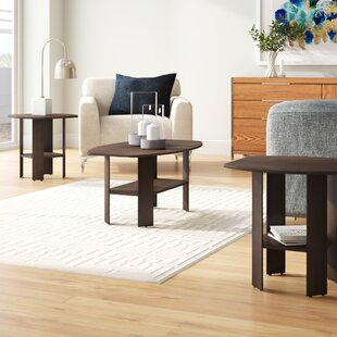 Ballou 3 Piece Coffee Table Set by Ebern Designs
