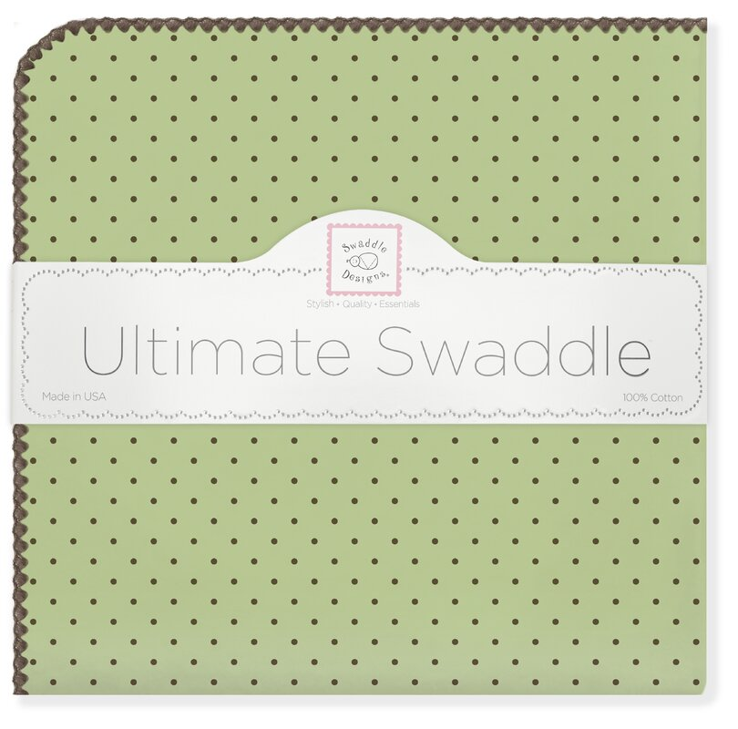 Ultimate Receiving Blanket® in Pastel with Brown Polka Dots