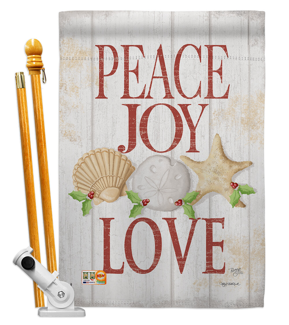 Breeze Decor Peace Joy Love Impressions Decorative 2 Sided Polyester 40 X 28 In Flag Set Wayfair