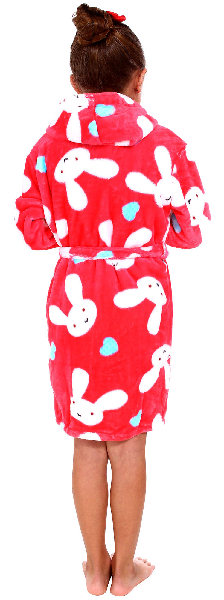 545c631963 Zoomie Kids Geurie Children s Bunny Print Plush Bathrobe