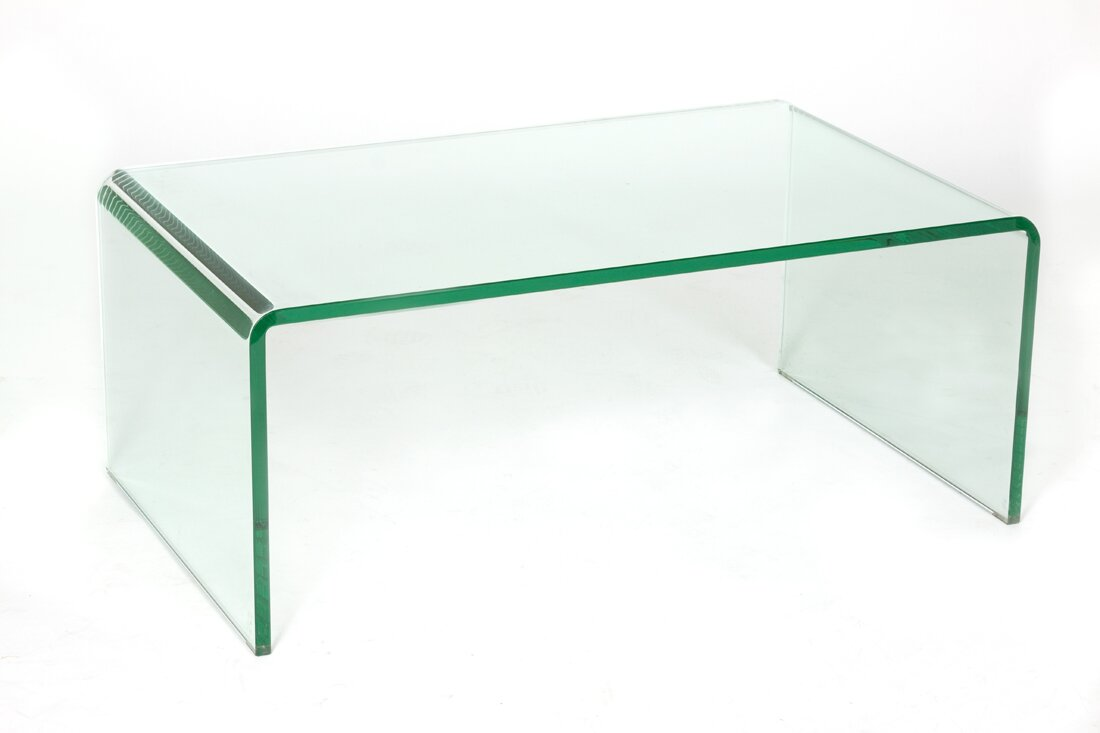 Attractive Waterfall Glass Coffee Table Part 7