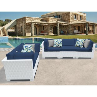 Monaco 5 Piece Sofa Seating Group with Cushions