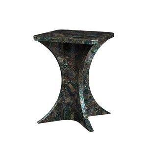 Paua Shell Inlaid End Table