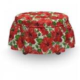 Hawaii Botanic Bouquet Retro 2 Piece Box Cushion Ottoman Slipcover Set by East Urban Home