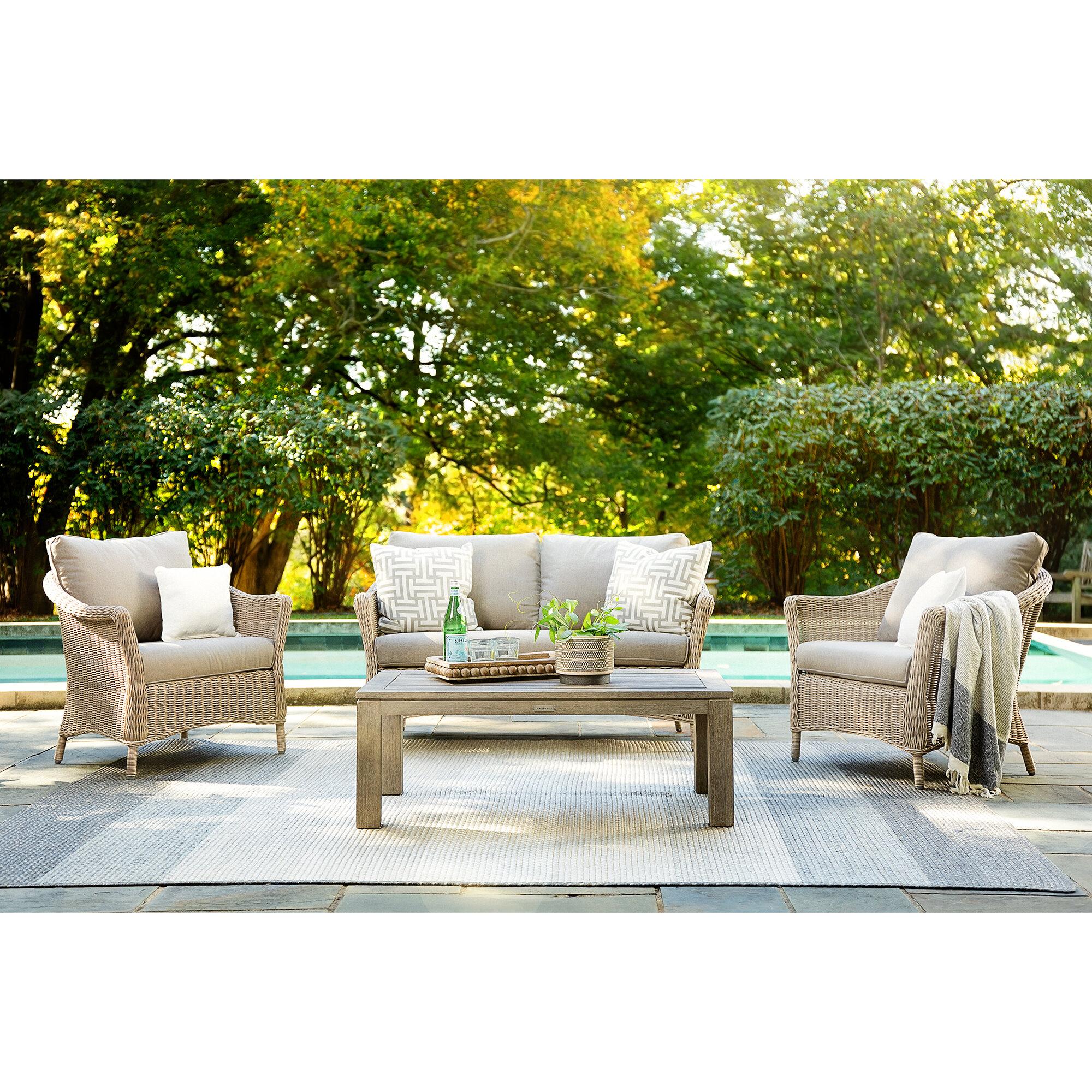 La Z Boy Laurel Lounge Seating Group With Sunbrella Cushions Reviews Wayfair