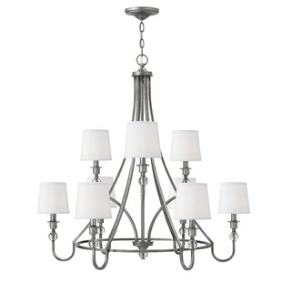 Alcott Hill Kessler 9-Light Shaded Chandelier