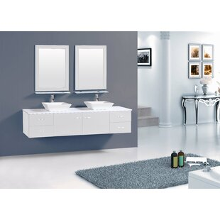 Azzitta 72 Double Bathroom Vanity Set by Orren Ellis