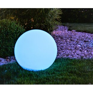 Emborough White Solar Powered LED Outdoor Lawn Ornament By Sol 72 Outdoor