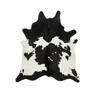 Great deal Special Cowhide Black/White Area Rug By Saddlemans