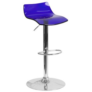 Nolin Adjustable Height Swivel Bar Stool by Orren Ellis