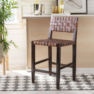Boothe Woven Leather 30 Bar Stool
