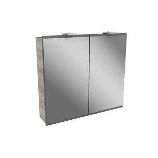 Lima 80cm W X 73cm H Surface Mount Mirror Cabinet With LED Lighting By Fackelmann