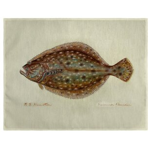 Albus Flounder 18 Placemat (Set of 4) by Highland Dunes