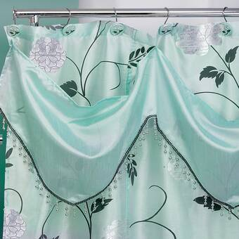 7808ad157be Ellen Tracy Slipcovers Orbits Single Shower Curtain
