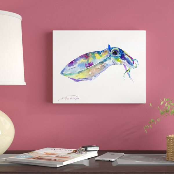 East Urban Home Squidpainting Print On Wrapped Canvas Wayfair Ca