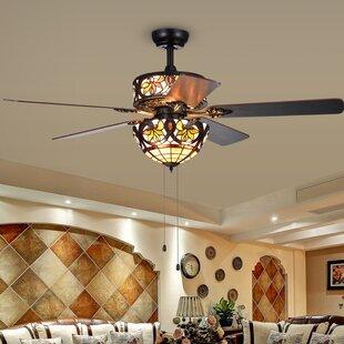Chandelier Ceiling Fan Combo | Wayfair