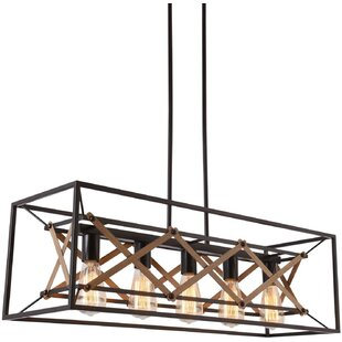 The Best Rectangle Pendant Light You Can Buy In 2021 Gracie Oaks Gracie Oaks Oyama 5 Light Kitchen Island Rectangle Pendant With Wood Accents
