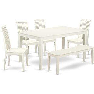 Smyrna 6 Piece Solid Wood Dining Set by Charlton Home Best