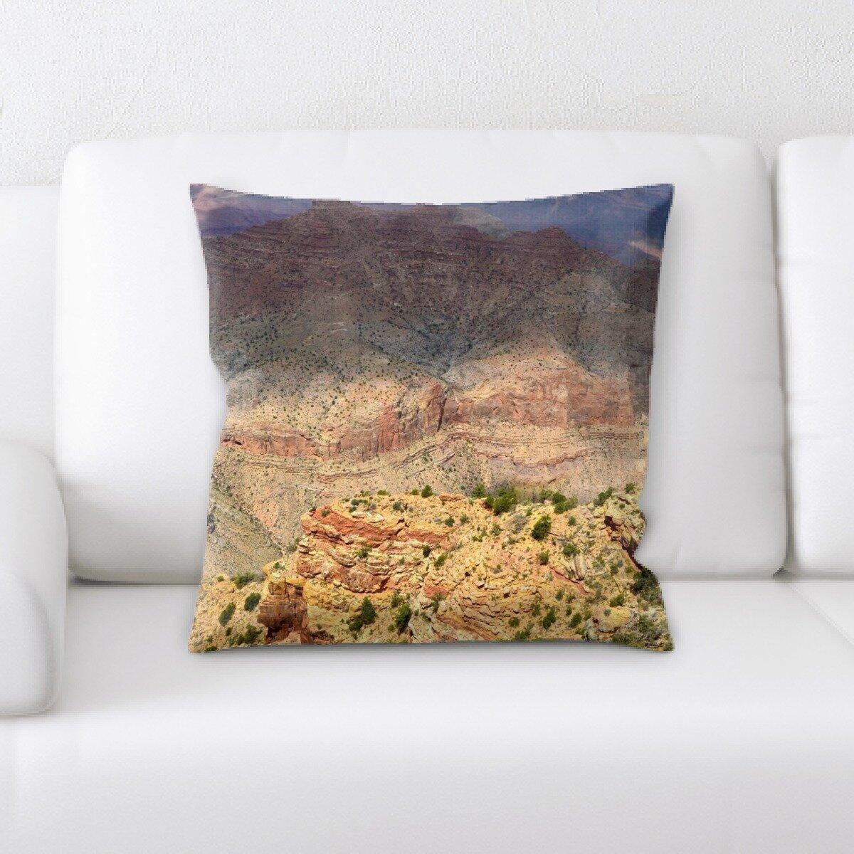 Latitude Run Latona Mountain And Cliffs Throw Pillow Wayfair