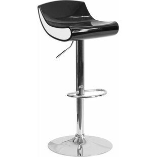 Whelan Adjustable Height Swivel Bar Stool Orren Ellis