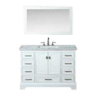 Stian 48 Single Sink Bathroom Vanity Set with Mirror