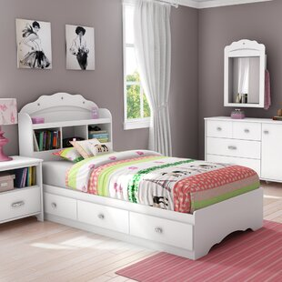 Best Tiara Mate's Bed with Drawers and Bookcase Headboard Set By South Shore