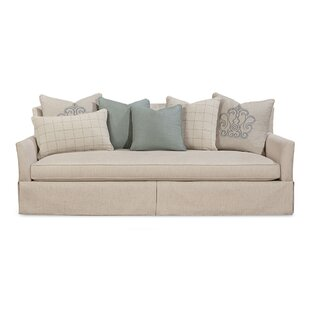 Inexpensive Palm Harbor Upholstered Skirted Sofa by Rosecliff Heights Reviews (2019) & Buyer's Guide