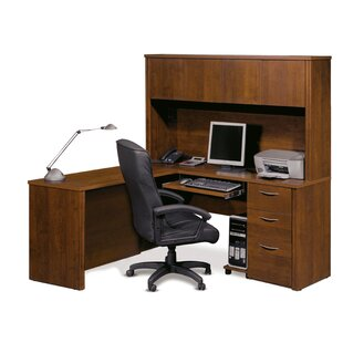 Witchel L-Shape Desk Office Suite with Hutch