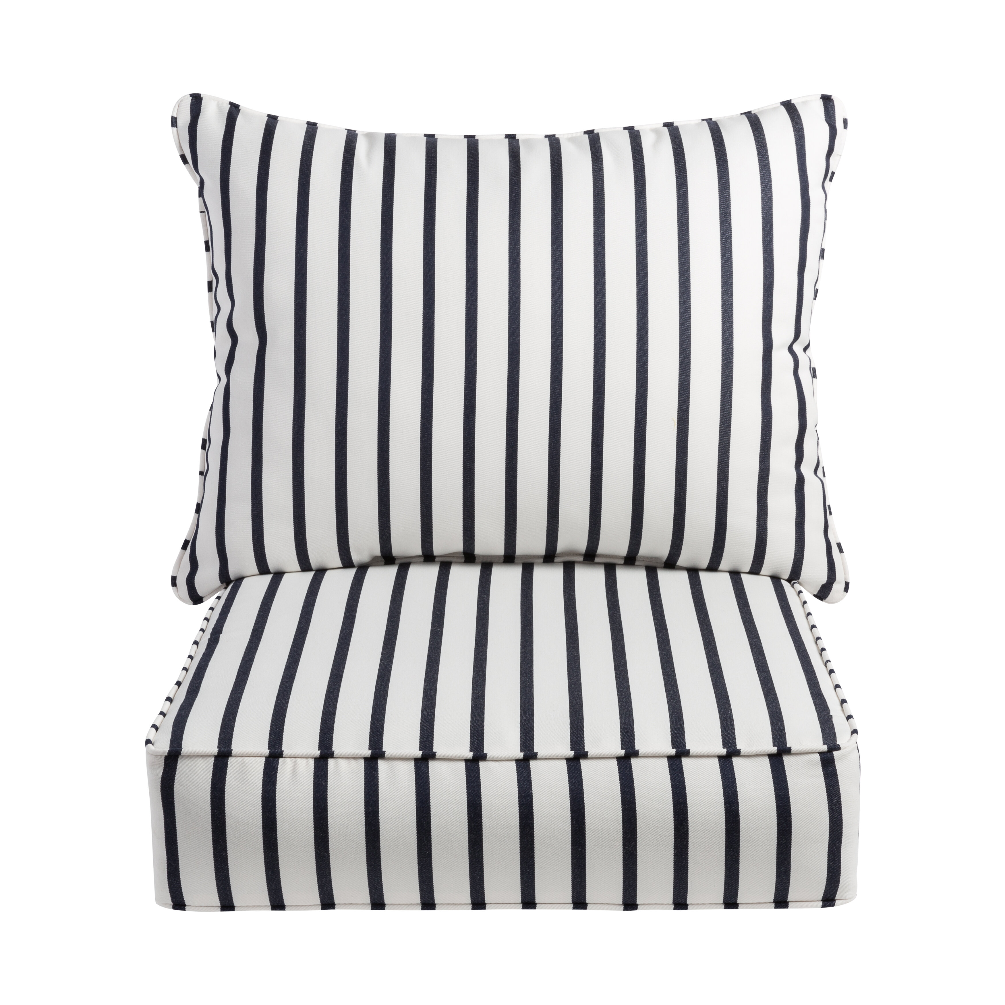 Awe Inspiring Whitten Stripe Indoor Outdoor Sunbrella Lounge Chair Cushion Cjindustries Chair Design For Home Cjindustriesco