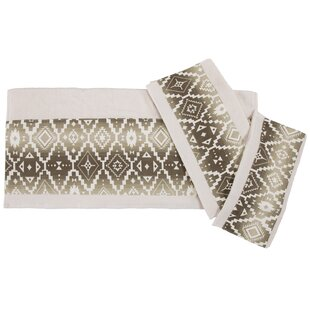 Chalet Aztec Applique 3 Piece Towel Set