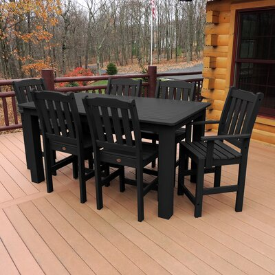 Phat Tommy 7 Piece Dining Set Buyers Choice Table Size: 30 H x 36 W x 72 L, Finish: Black