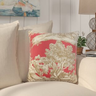 Nataliya Toile Cotton Throw Pillow (Set of 2)