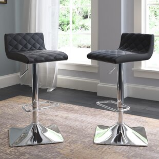 Aero Adjustable Height Swivel Bar Stool (Set of 2)
