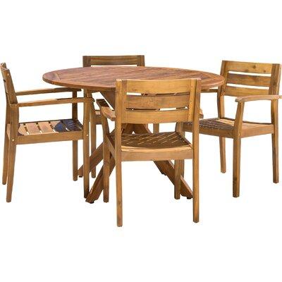 Kaylie Wood 5 Piece Dining Set by Mistana 2020 Sale