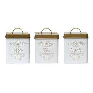 Harper 3 Piece Coffee, Tea, and Sugar Jar Set By Ophelia & Co.