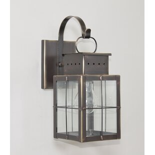 Wildes 1-Light Outdoor Wall Lantern by Breakwater Bay