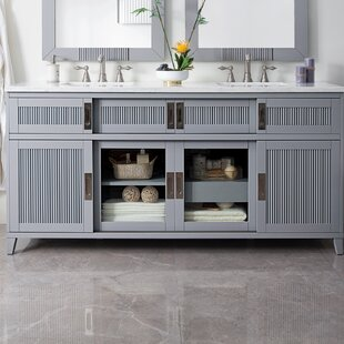 Linehan 72 Double Bathroom Vanity Set by Rosecliff Heights