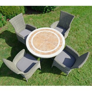 Micaela 4 Seater Dining Set With Cushions Image