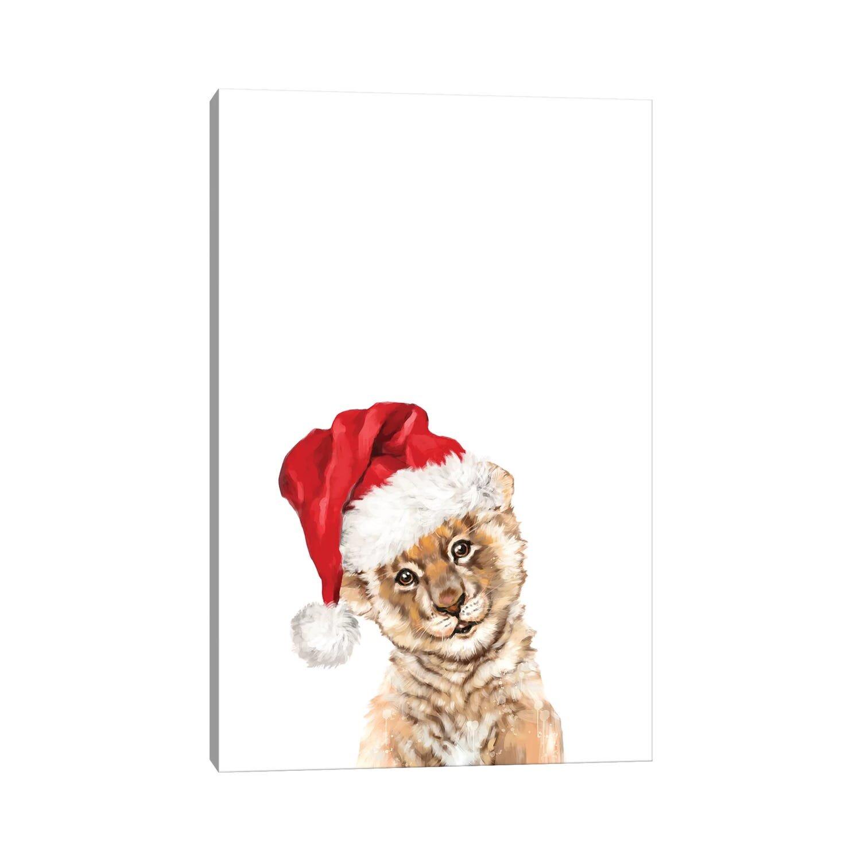 East Urban Home Christmas Baby Lion By Big Nose Work Graphic Art Print Wayfair