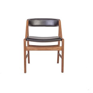 The Soen Genuine Leather Upholstered Dining Chair by dCOR design